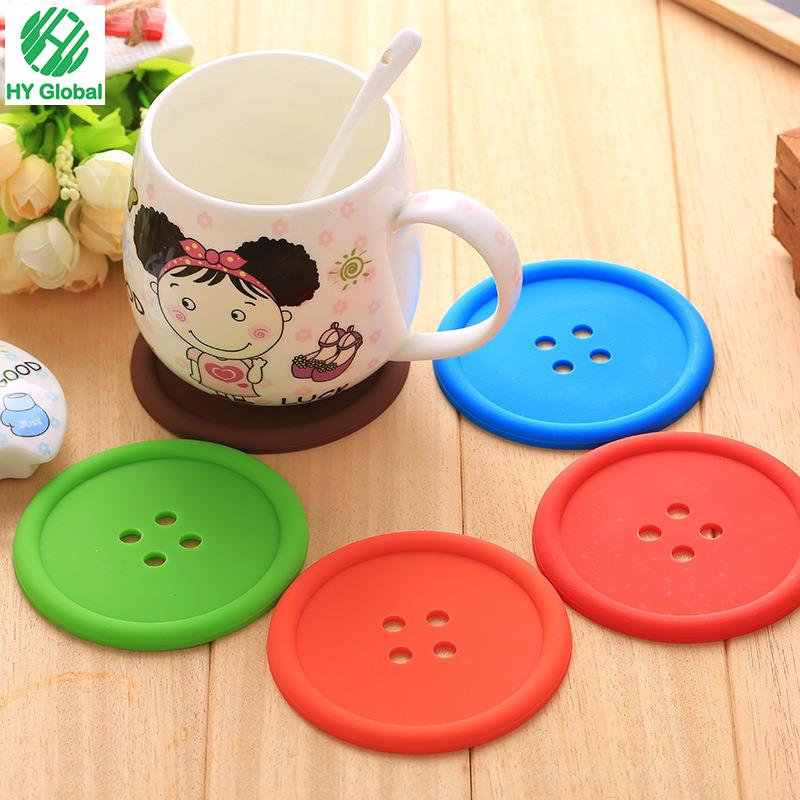 Silicone Coasters Can Customized Package Silicone Car Cup Holder Coaster