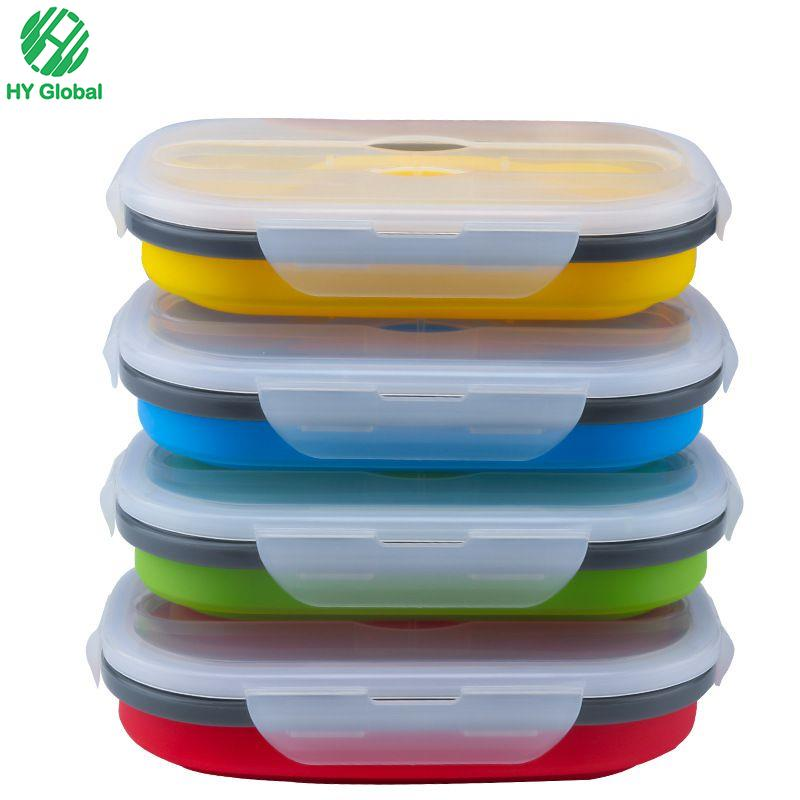 Capacity Food Storage Containers Collapsible,Foldable Silicone lunch box