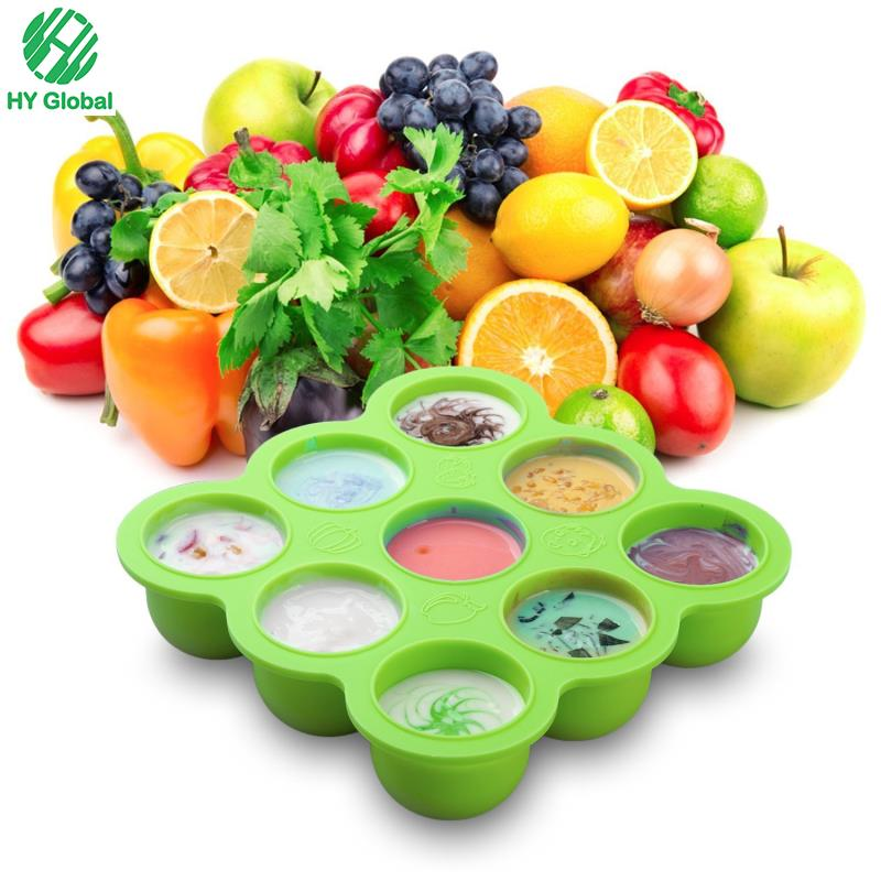 SIlicone Baby Ice Freezer Tray Food Storage Container