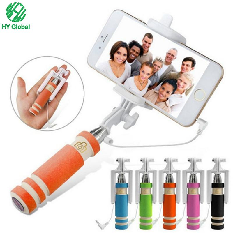 Cable take pole Selfie stick NO need bluetooth No need charger