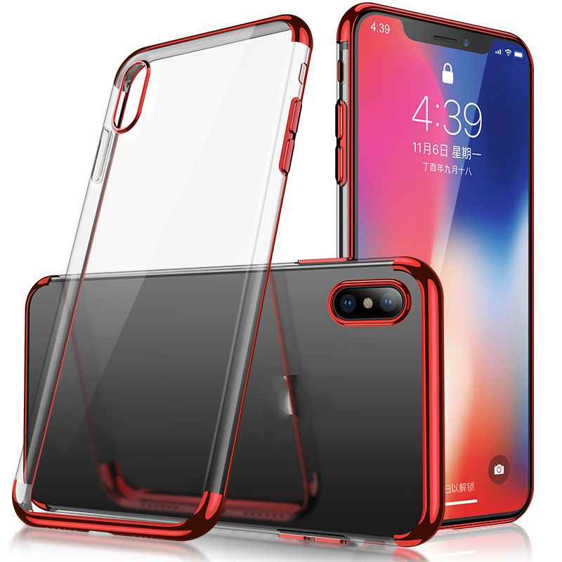 Mobile Phone Case For IPhone x Case High Quality Transparent TPU Cover For IPhone 8 Soft Shell