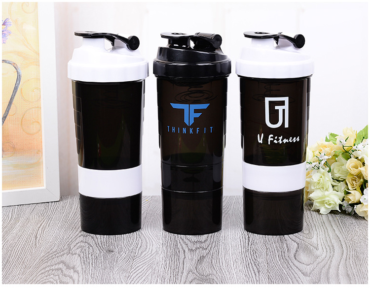 Spider Protein Shaker Bottle Sports Powder Mixer Bottle with pill box