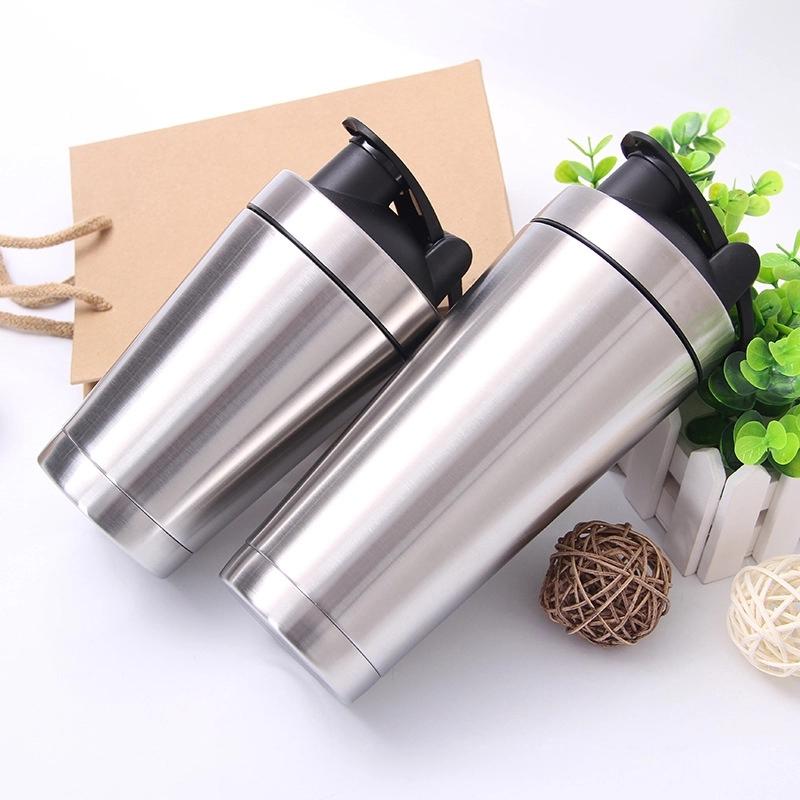 custom stainless steel insulated sport protein shaker bottle