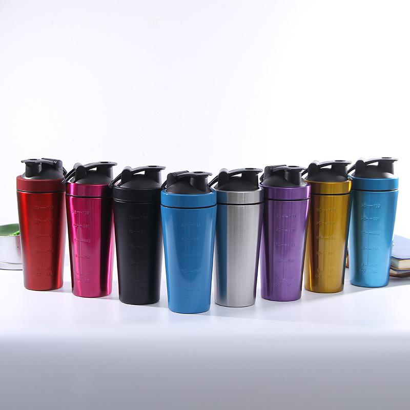 25oz single wall 304 stainless steel shaker bottle
