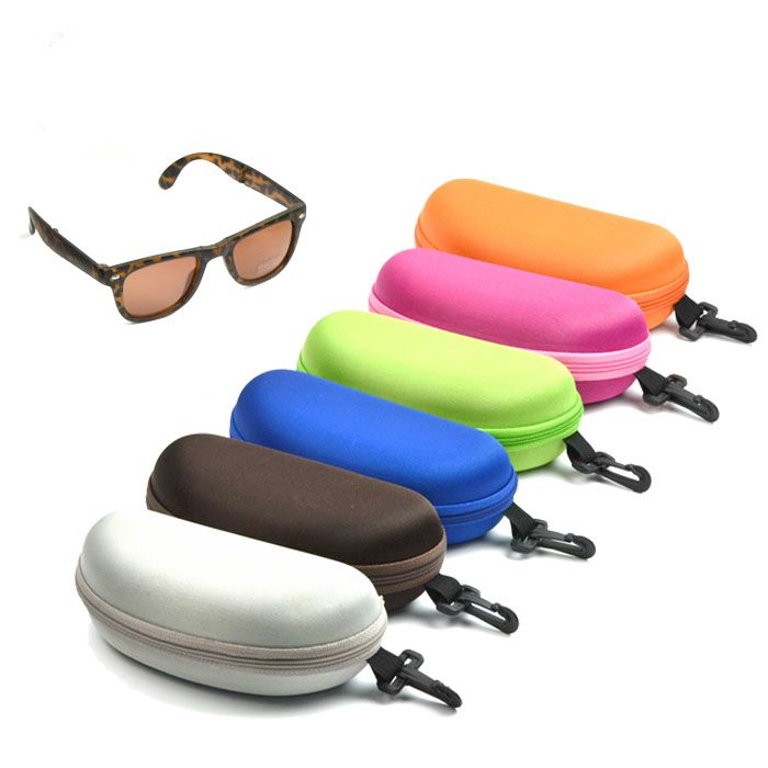 EVA waterproof offset printing zipper cheap sunglasses case