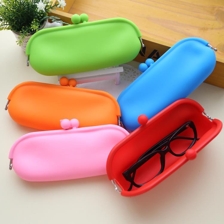 Protective Foldable silicone eyeglass case