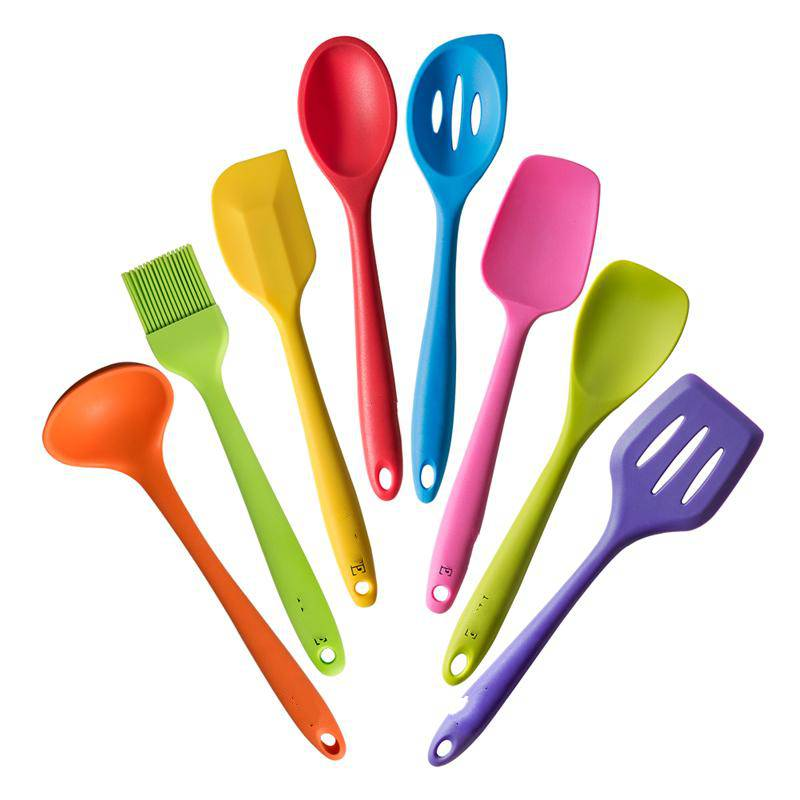8 pcs silicone cooking utensil set