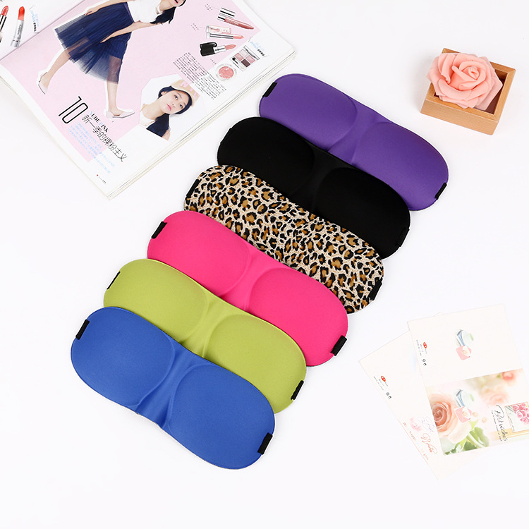 Personalized Silk Soft Eye Sleeping Mask for Travel Rest 3D Eye shade cover Mask
