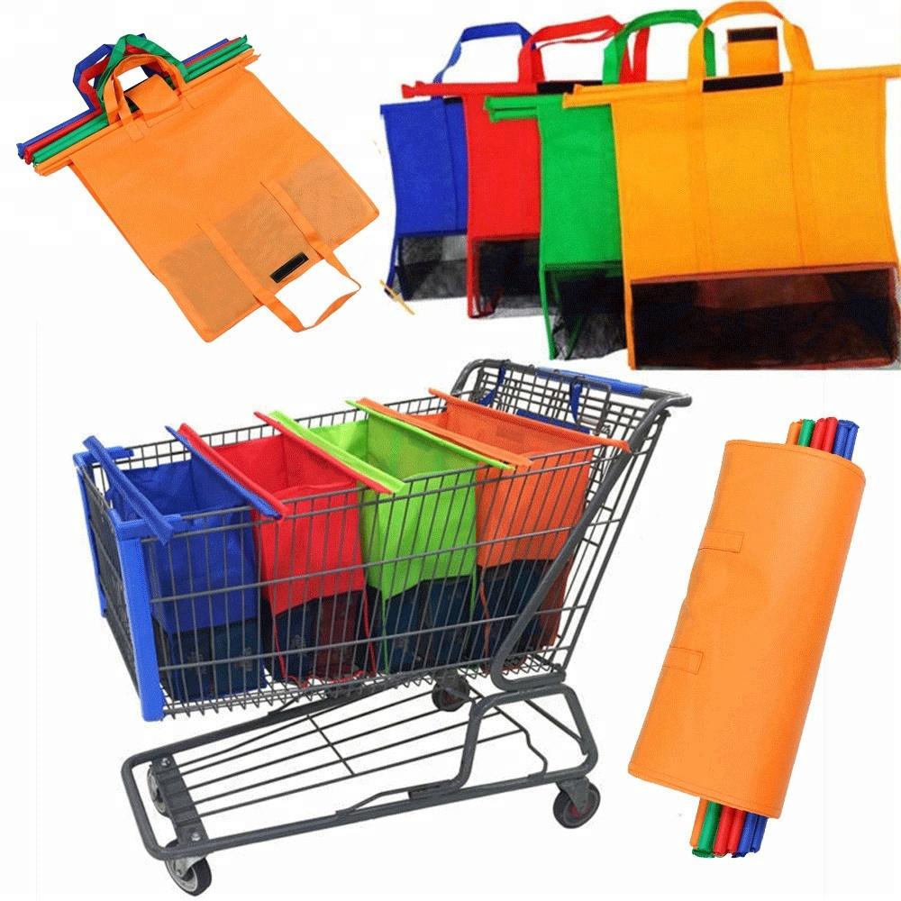 Shopping trolley bag,cart trolley-Reusable foldable Cart 4color Trolley Shopping bag