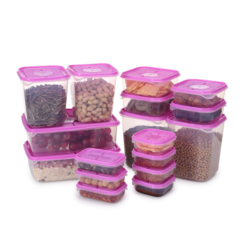 17pcs PP plastic food storage container set