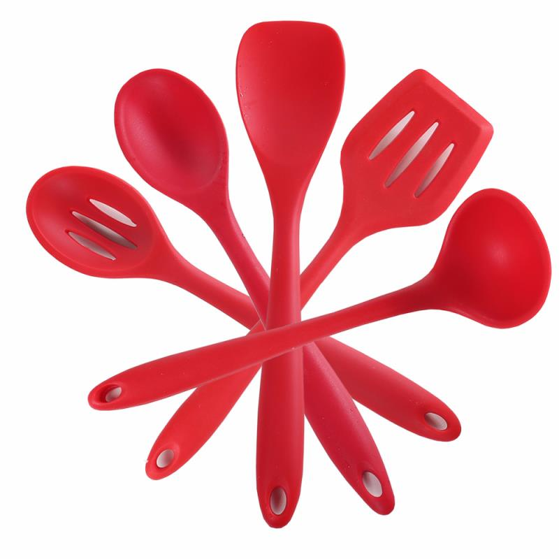 silicone Kitchen Utensils Set can package by your custom box