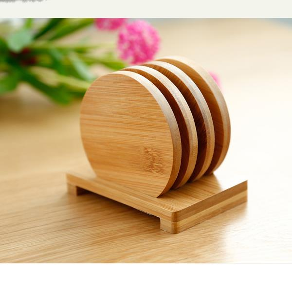 Wooden Bamboo Cup Coasters wholesale