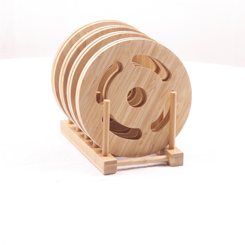 Bamboo coaster set wedding gifts