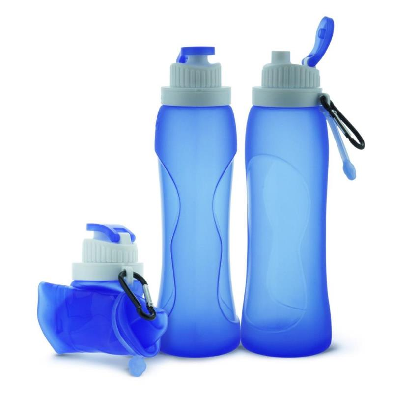 2018 new fitness 500ML Collapsible Foldable Silicone drink Sports Mineral Water Bottle