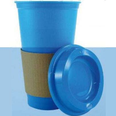 BPA FREE 16oz Plastic Travel coffee cup with lids,Coffee mugs with paper sleeve