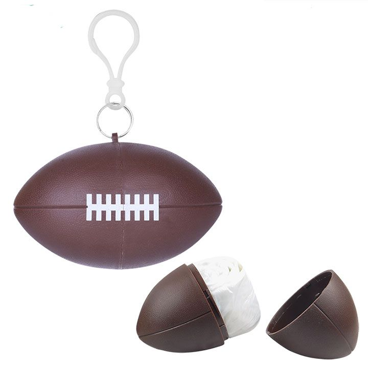 Disposable Rain Poncho Ball Raincoat In Rugby Ball Shape Case