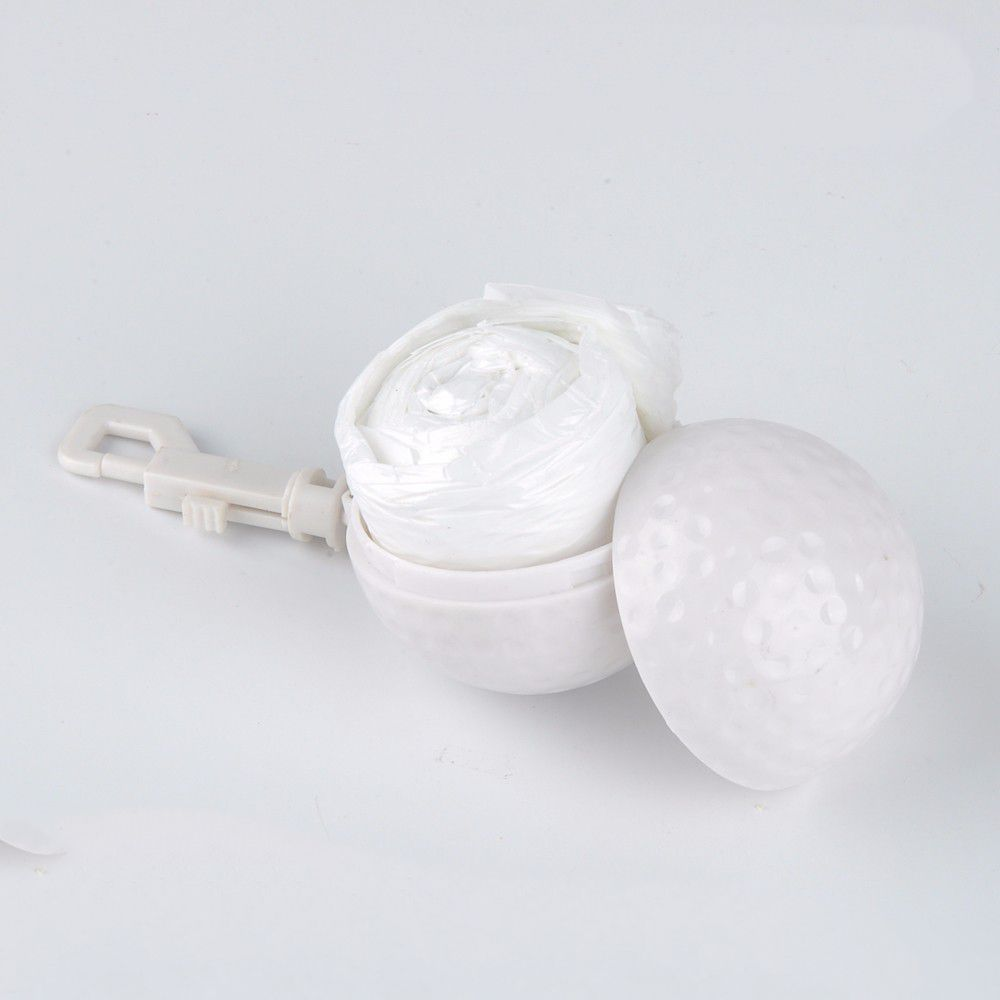 Disposable Rain Poncho Ball Raincoat In Golf Ball Shape Case