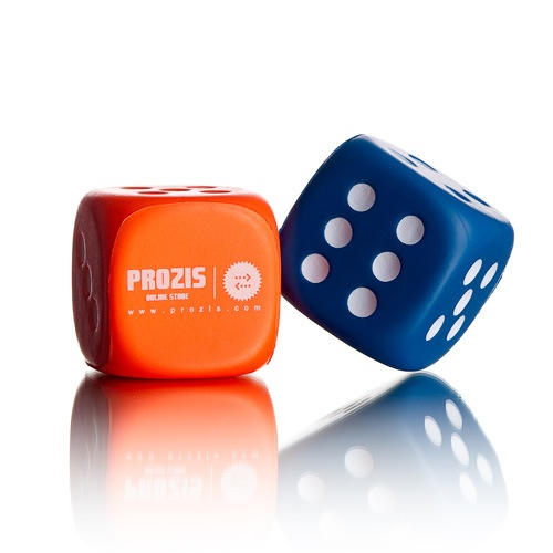 custom  pu foam dice cube stress ball