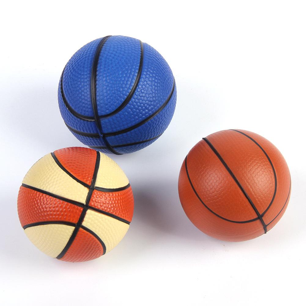 basket ball shape anti stress ball custom logo