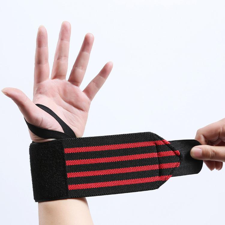 Adjustable Elastic Custom Weight lifting Wrist Wraps