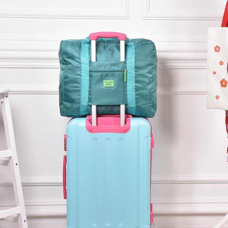promotion nylon suitcase luggage foldable travelling bag waterproof travel bag