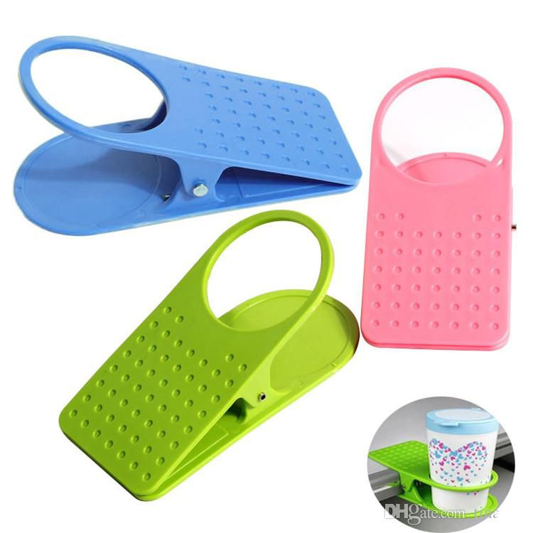 Plastic cup holder table cup holder clip