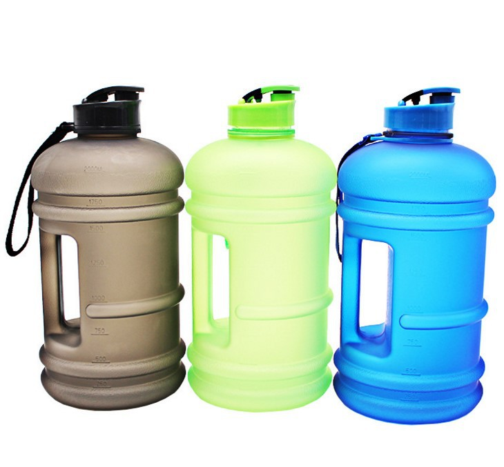 BPA FREE 2,2L plastic sports fitness drinking water bottle jug with side handle