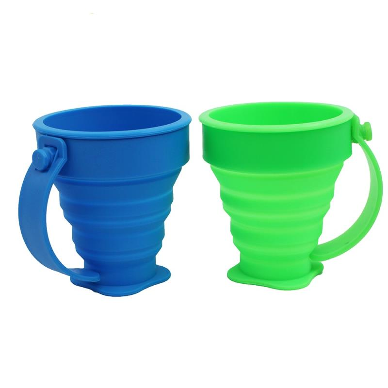 Folding Foldable Custom Water Drink Silicone Collapsible Cup