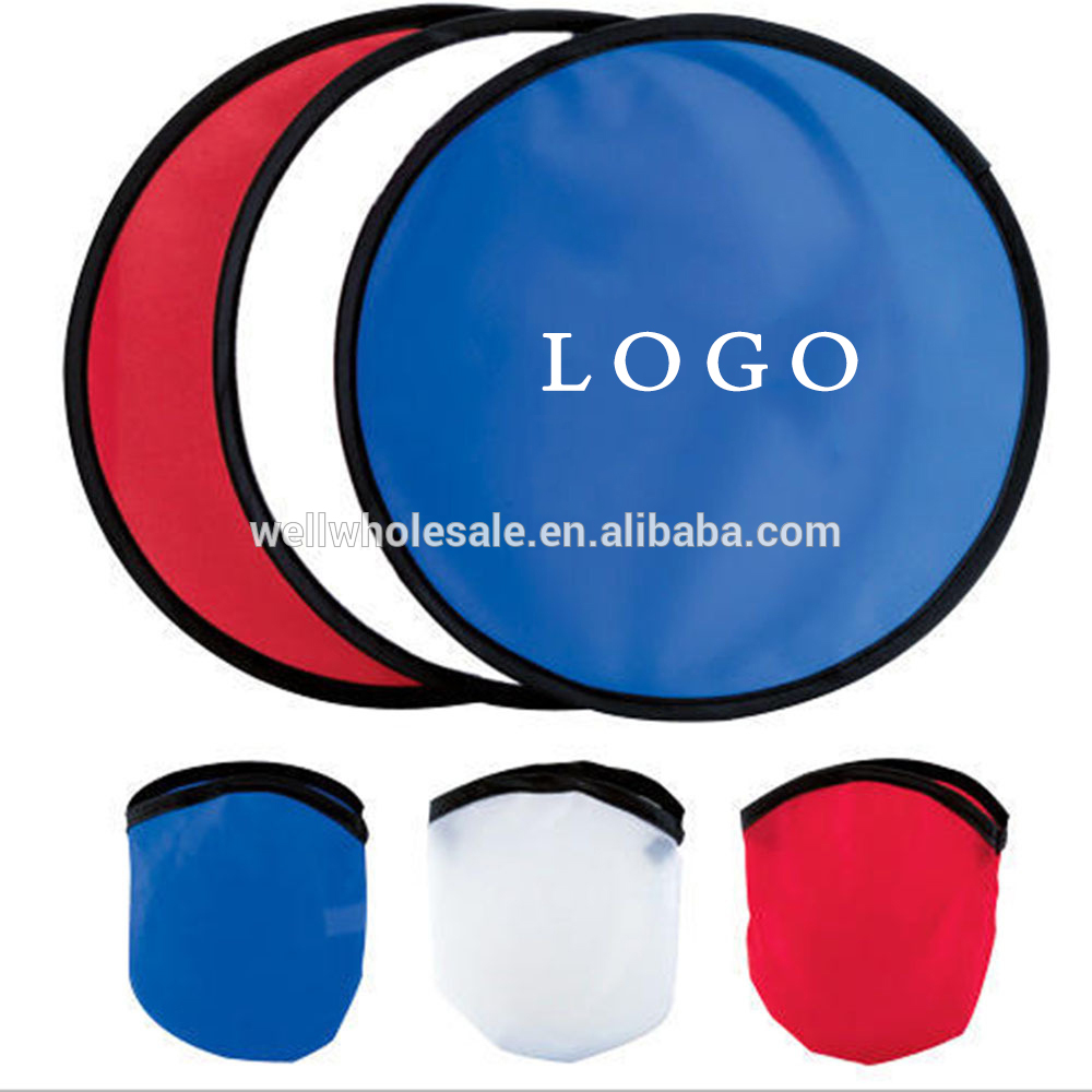 Foldable Nylon flying disc With Pouch promotional hot sales