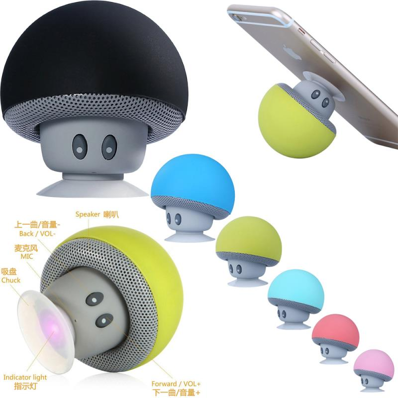 Good Promotion!Cute Fasion Mini Mushroom Portable Bluetooth Speaker