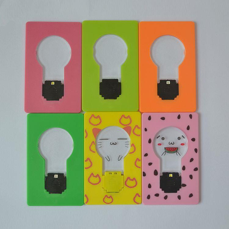 Plastic Flashing LED Pocket Card Light For Promotional