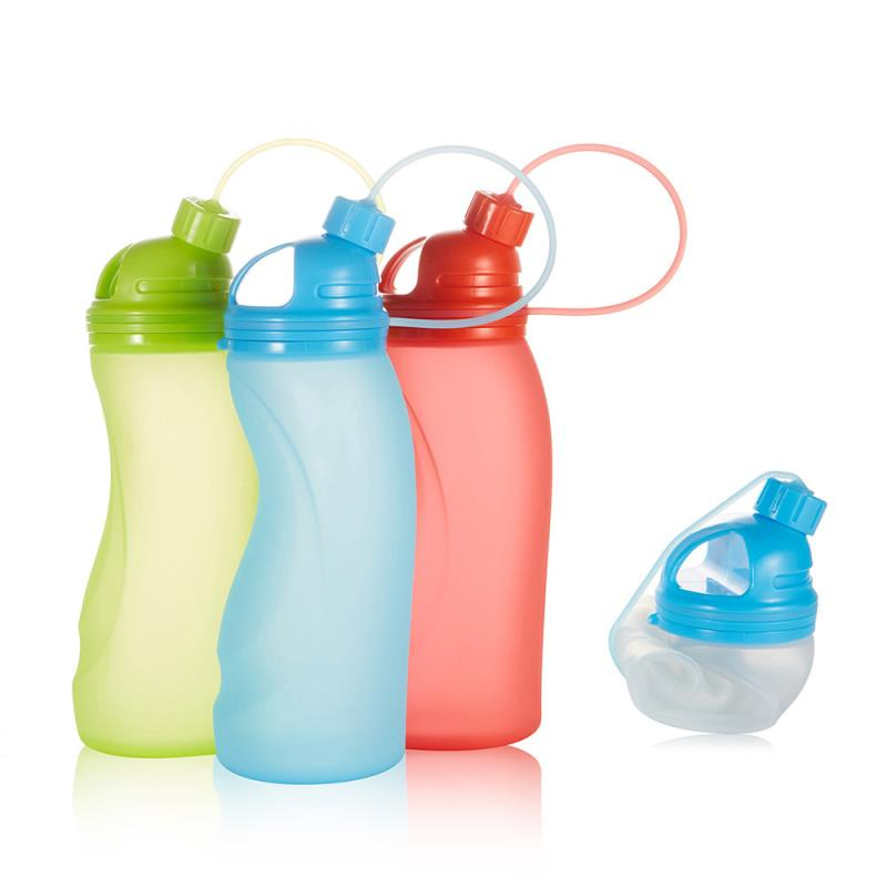 Amazon best selling silicone water bottle for travel