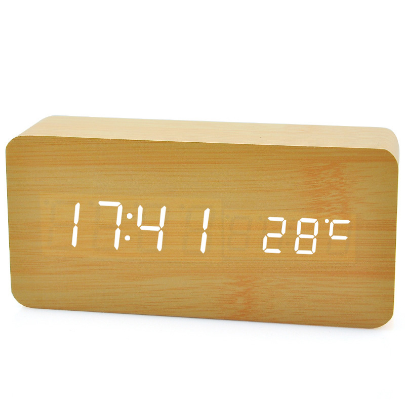 Wooden led clock fan,usb fan with led clock circuit board