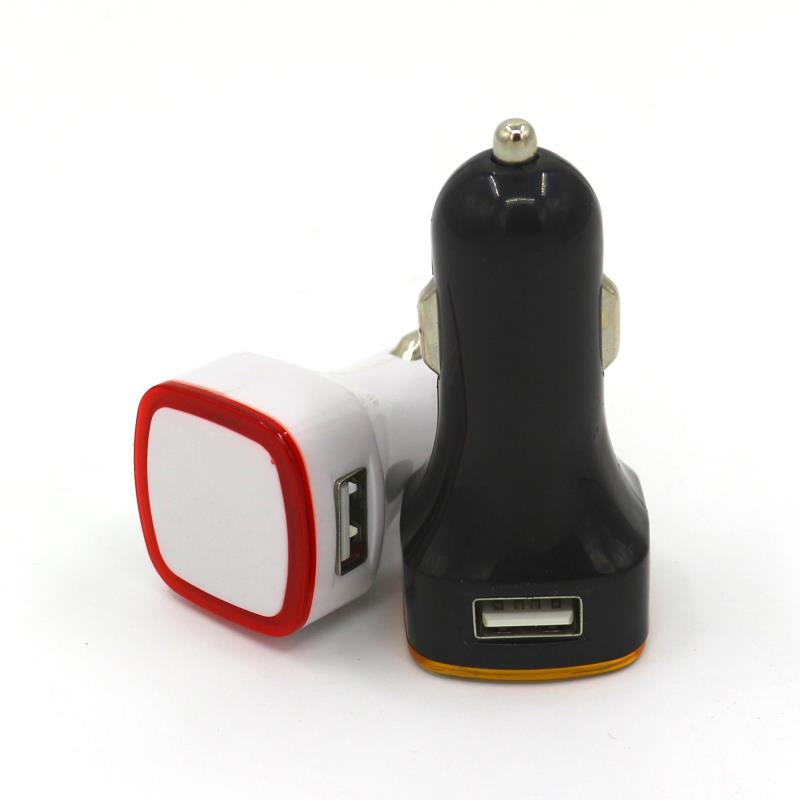 Manufacturers specializing in the production of halo car charger Dual USB square car charger