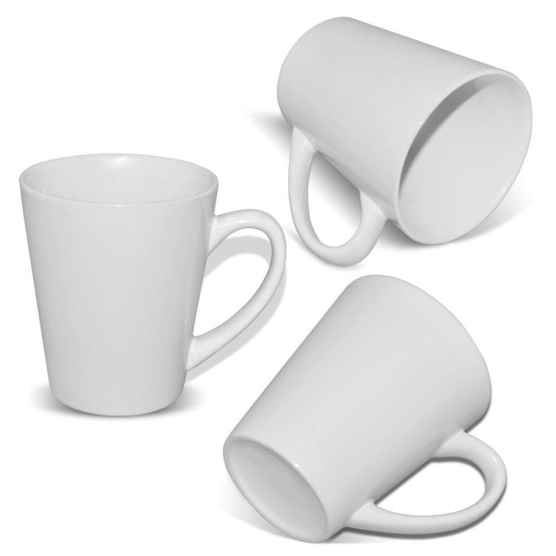 12 oz white Ceramic Latte Sublimation Mug Cup
