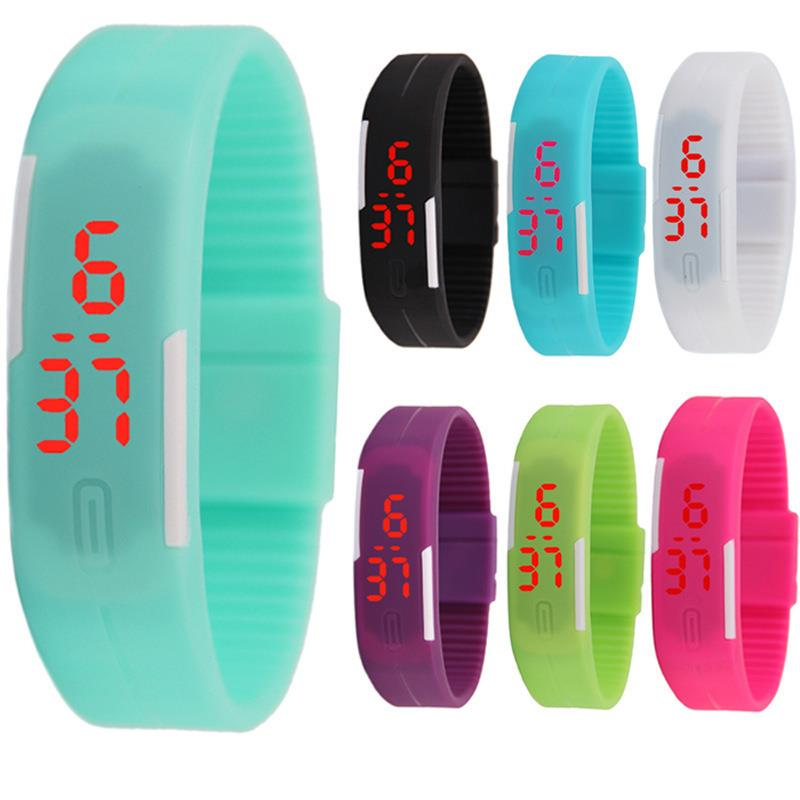 Fashion Ultra-thin Touch Children Electronic Wristwatches Women Relgio Watch Bracelet Men Digital LED Sport Watches