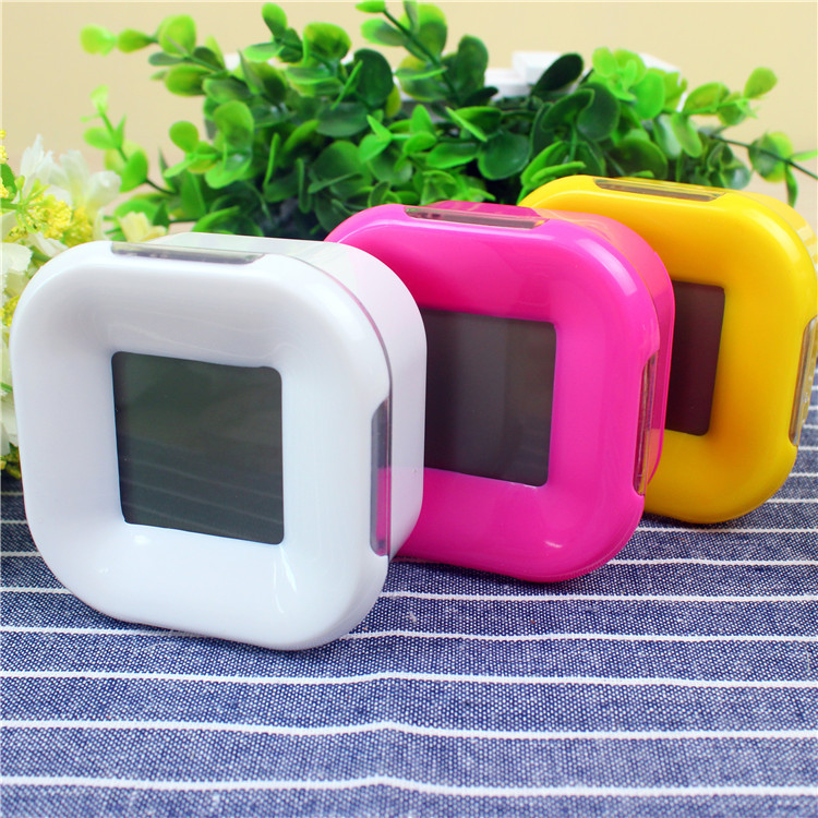 Colorful four-sided clock