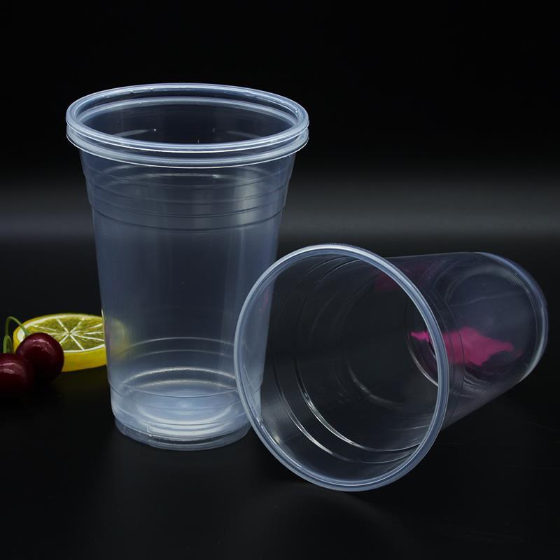 9oz transparent pp disposable reusable plastic cup for coffee shop
