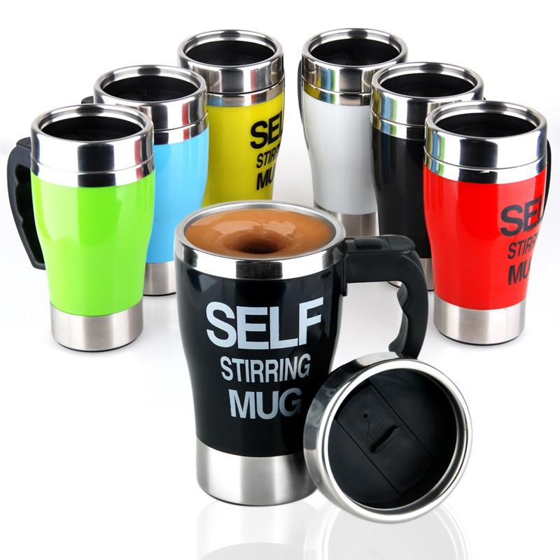 Creative High quality Stainless Steel Coffee Cup Automatic Electric Mixing Cups Self Stirring Mugs many kinds of Colors