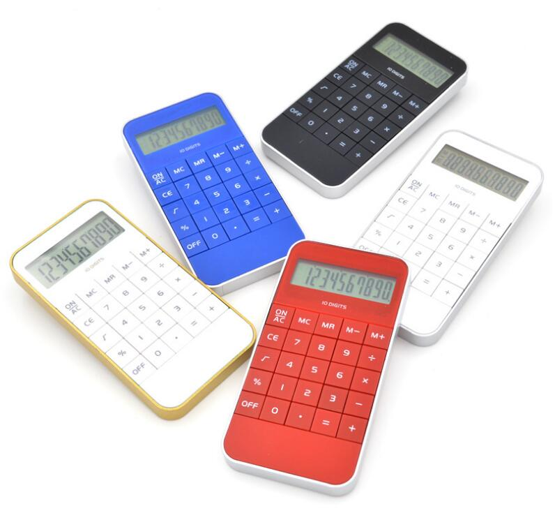 Wholesale Custom Logo Phone Shape 10 Digit Calculator Cheap Small Mini Calculator Black Blue White Red
