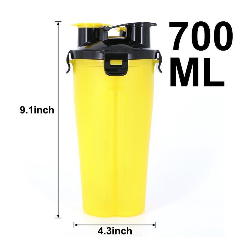 Wholesale customized cup motivational dual Shaker bottle