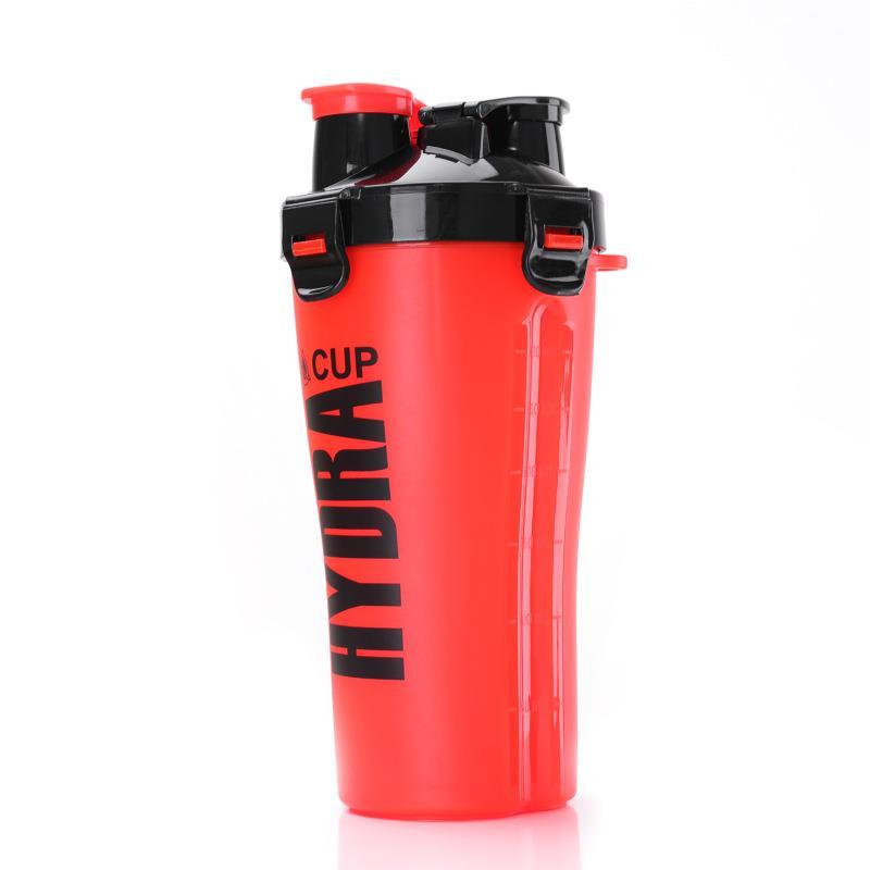 Plastic Protein Dual Shaker bottle