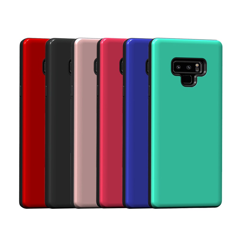 TPU+PC and ring mobile phone case for samsung note9 with metal stand