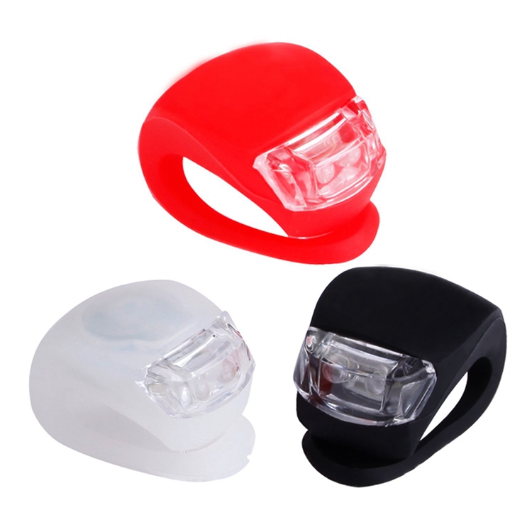 Silicone LED Flashing Bike Light For Night Warning