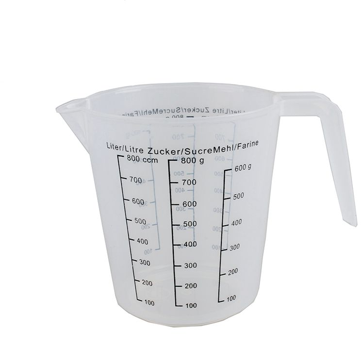 Plastic Measuring Cup PP Home Use Customized Logo measuring plastic cup