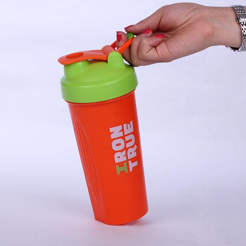 Custom Logo BPA Free 600ml Plastic PP Protein Shaker Bottle