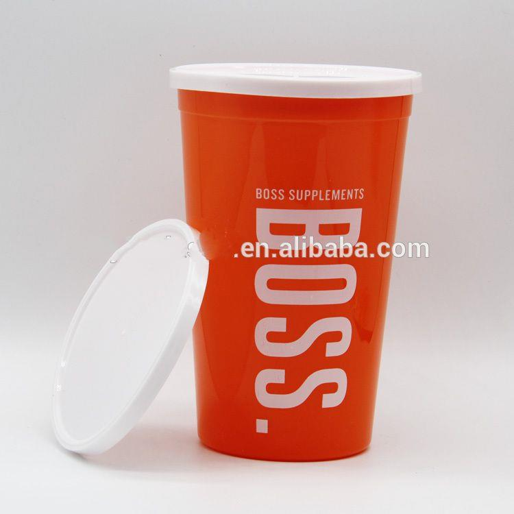 Personalized Plastic Stadium Cup Water Cup With Lid