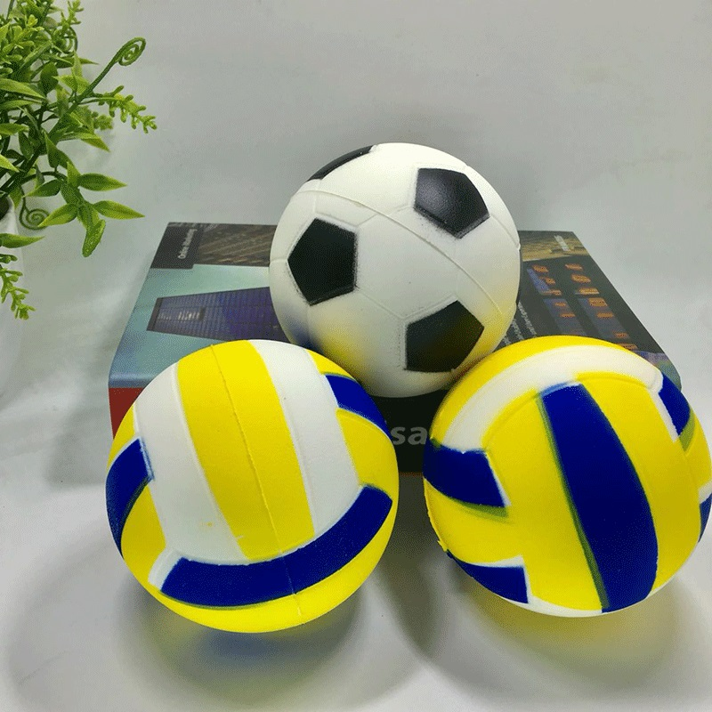 Crazy slow rising stress volleyball toy PU soft squishy stress relief balls simulation football for kids