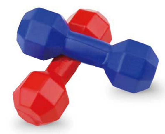 Wholesale dumbbell shape pu foam stress ball, dumbbell shaped customized foam toy