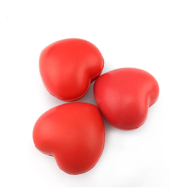 Custom Heart Shaped Stress Balls Colorful Bulk PU Stress Balls